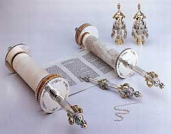 complete sterling silver Torah ornaments sets from Israel